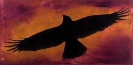 "Crow Totem - 12""x24"""