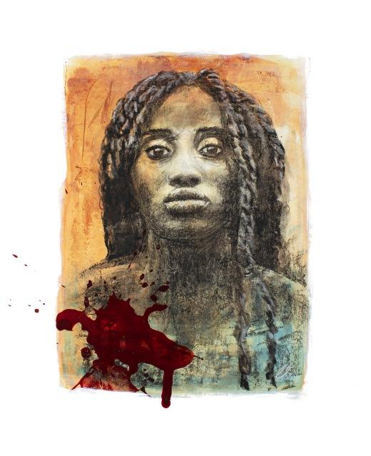 """Black Lives Matter 13"""" x 16"""" on paper"""