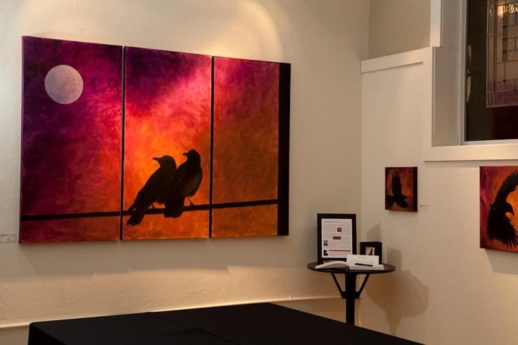 """Together"", 4′x6′ Triptych, Acrylic (photo © 2012 David Hartig)"