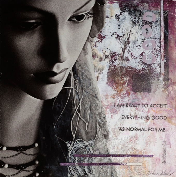 "Christina Schulz, Artist, Mixed Media Painting ""Good"""