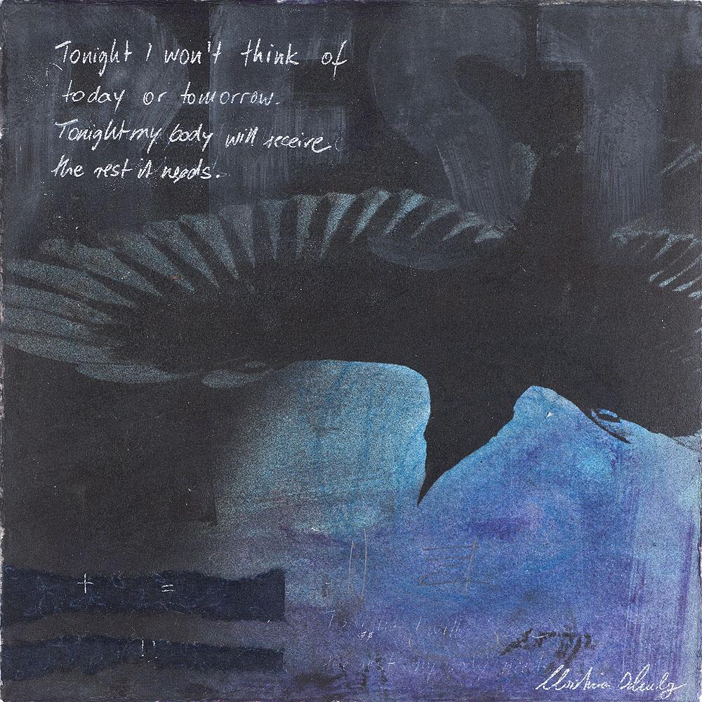"Christina Schulz, Artist, Mixed Media Painting ""Rest"""