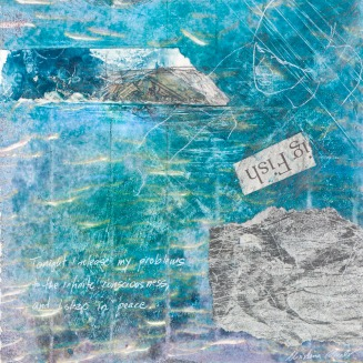 Christina Schulz, Artist, Mixed Media Painting: Sleep in Peace