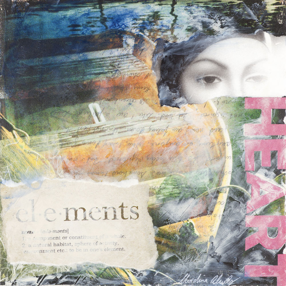 Christina Schulz, Artist, mixed media painting: Elements