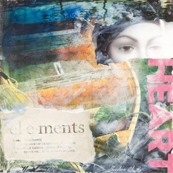 Christina Schulz, Artist, mixed media painting: Elements