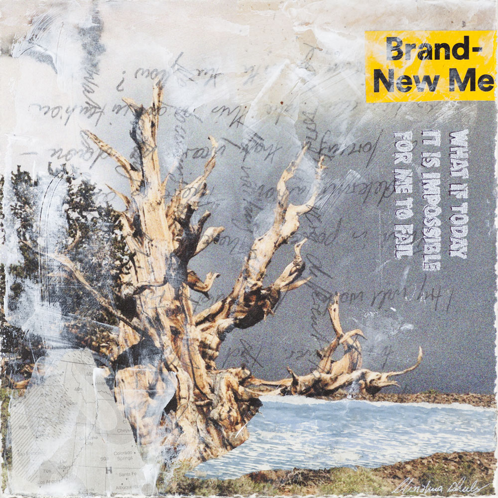 Christina Schulz, Artist, mixed media painting: Brand New Me
