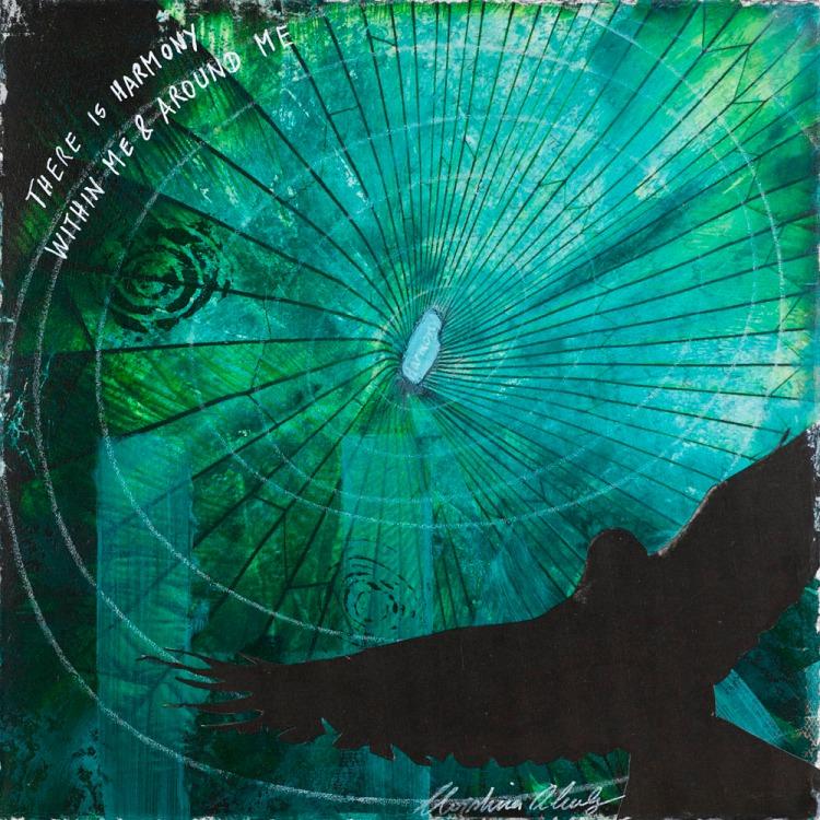 Christina Schulz, Artist, mixed media painting: harmony