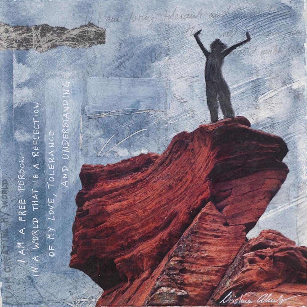 Christina Schulz, artist, mixed media painting: Free