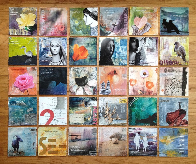 Christina Schulz     30 Paintings in 30 Days Project     Mixed Media on Watercolor Paper