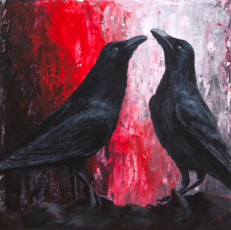 Christina Schulz Artist - Crow Dance Acrylic Painting on Canvas