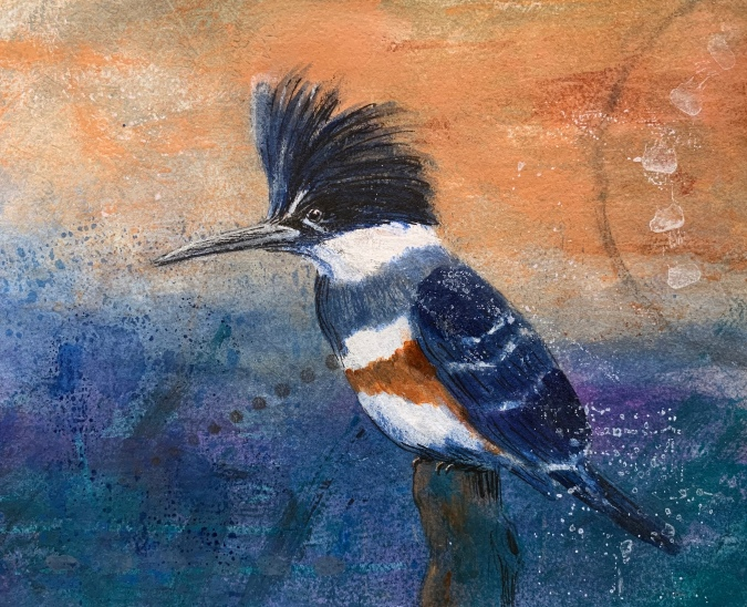 "Kingfisher 8"" x 10"" on paper"