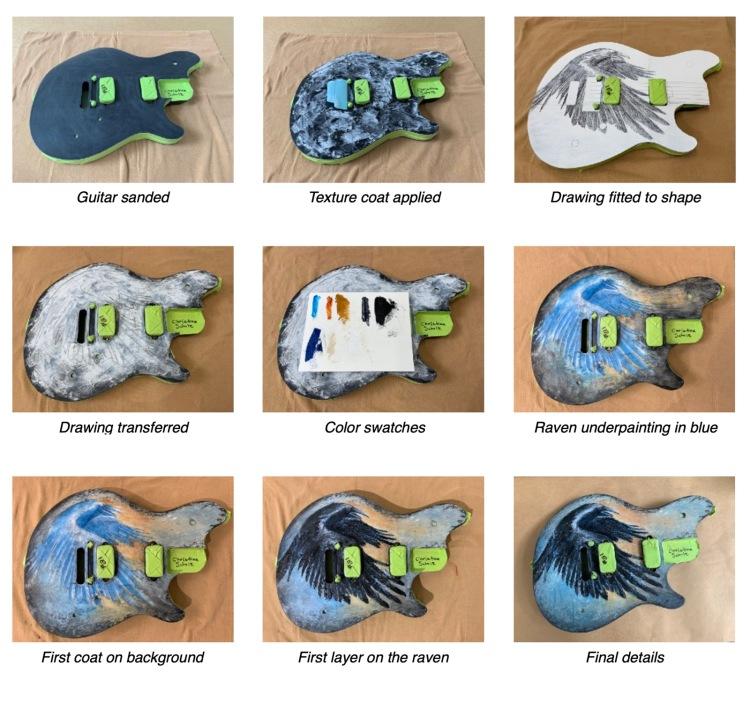 Raven Guitar Process Images