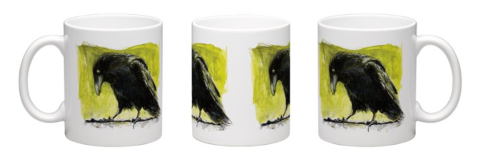 Raven on Tin Roof Art Cup